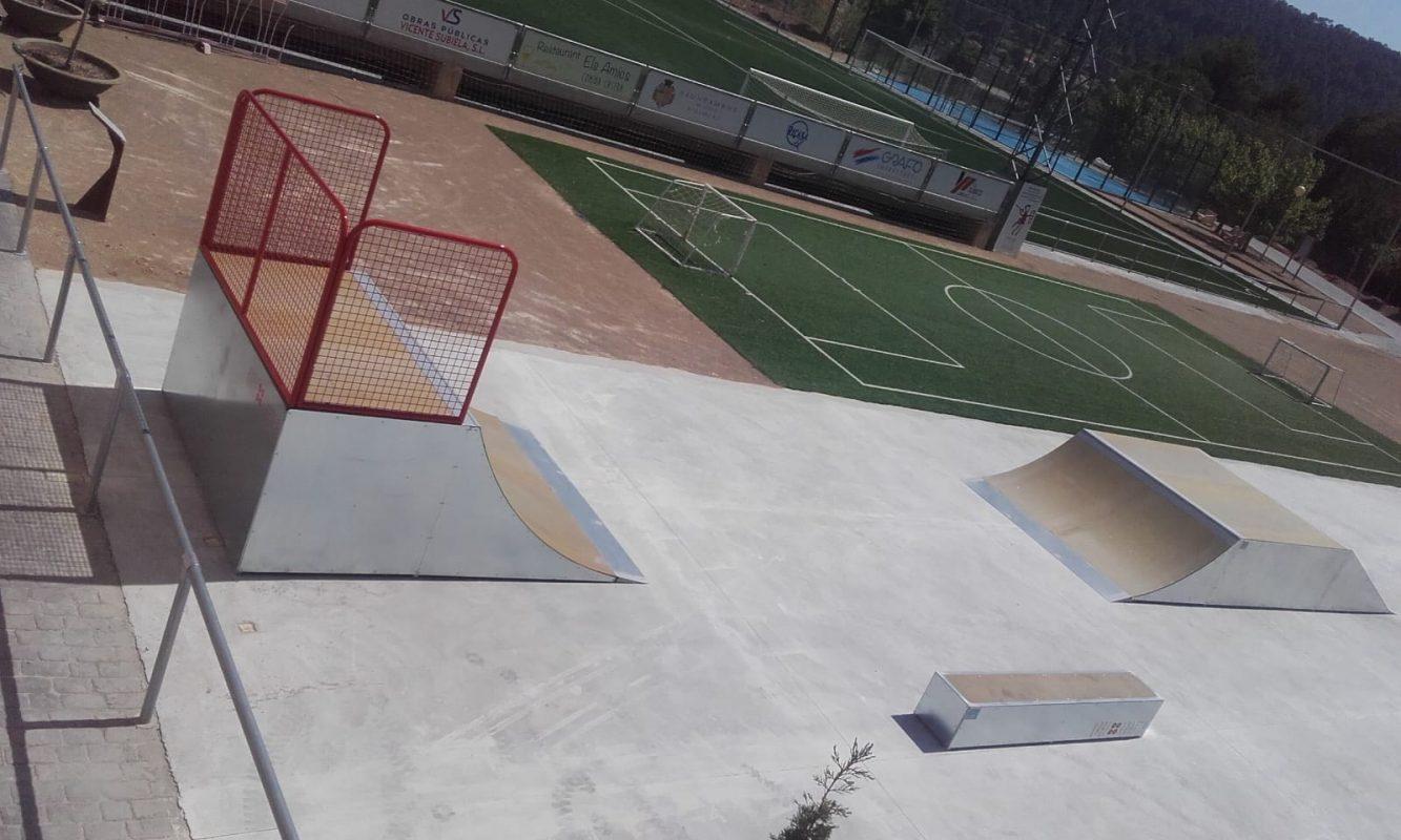 Urbe Adapta construye una nueva pista de skate en Olocau.
