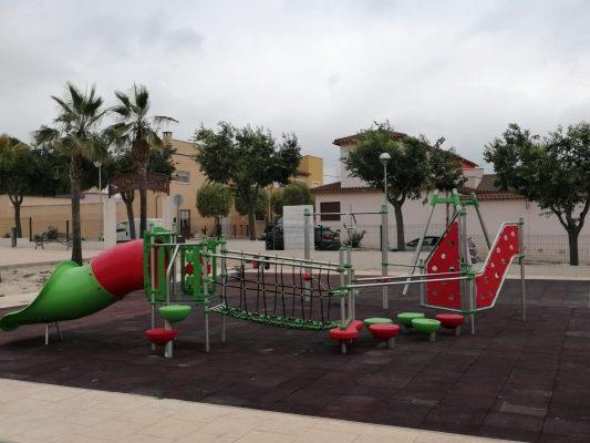 Remodelación parque infantil en Guadasséquies.