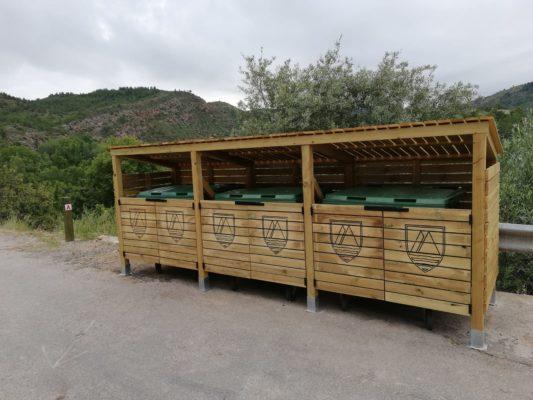 Urbe Adapta cubrecontenedores de madera
